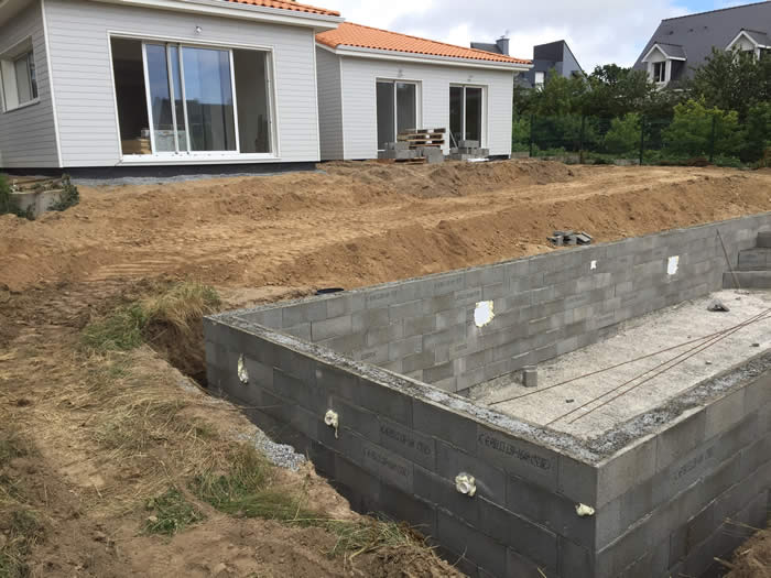 Sweetwood homes chantiers en cours for Construction piscine guerande